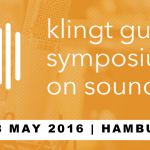 """klingt gut! Symposium on Sound"""