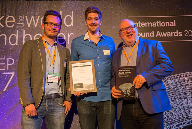 GROVES received a Better Sound Award for their auditory e-Health Application SonicTonic